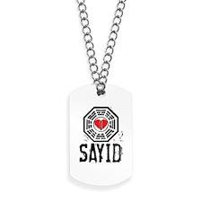 I Heart Sayid - LOST Dog Tags