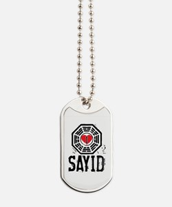 I Heart Sayid - LOST Dog Tags
