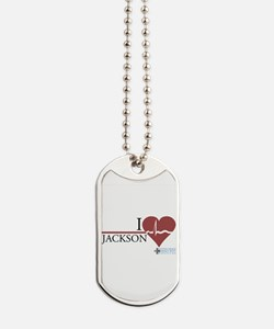 I Heart Jackson - Grey's Anat Dog Tags