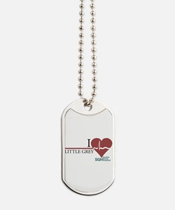 I Heart Little Grey Dog Tags