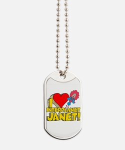 I Heart Interplanet Janet! Dog Tags