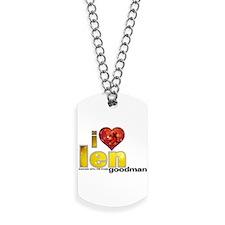 I Heart Len Goodman Dog Tags