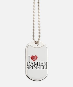 I Heart Damien Spinelli Dog Tags