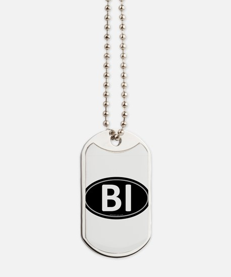 BI Black Euro Oval Dog Tags