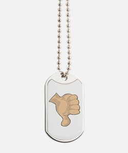 Hand - Thumbs Down Dog Tags
