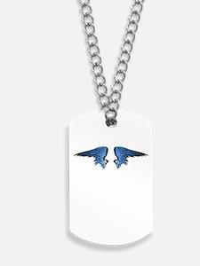 Blue Angel Wings Dog Tags