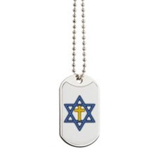 Star of David with Cross Dog Tags