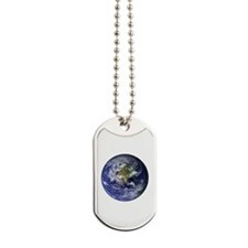 Western Earth from Space Dog Tags