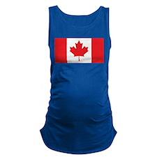 Canada Flag Maternity Tank Top
