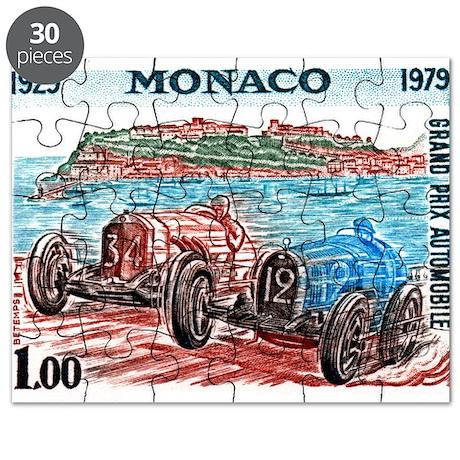 Vintage 1979 Monaco Grand Prix Race Postage Stamp