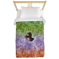 Butterfly On A Rock Twin Duvet