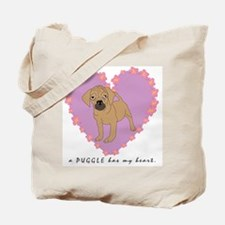 "A Puggle has my heart ""cartoo Tote Bag"