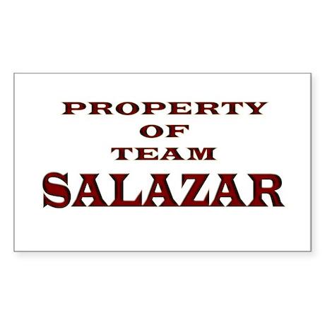 Property of team Salazar Rectangle Sticker