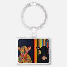 Two cows Landscape Keychain