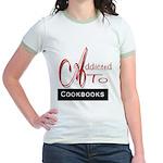 Addicted To Cookbooks Jr. Ringer T-Shirt