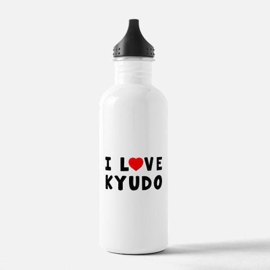 I Love Kyudo Water Bottle
