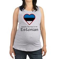 Happily Married Estonian Maternity Tank Top