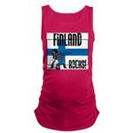 Finland Rocks Maternity Tank Top