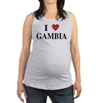 I Love Gambia Maternity Tank Top