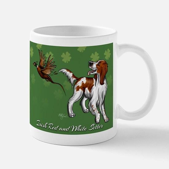 Irish Red and White Setter with Clovers Mug