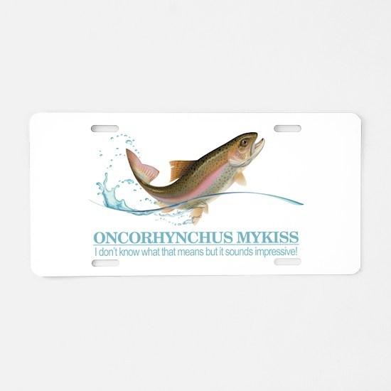 Rainbow Trout (OM) Aluminum License Plate