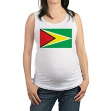 Guyana Flag Maternity Tank Top