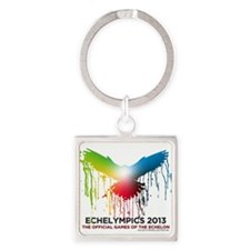 Cute 2013 logos Square Keychain