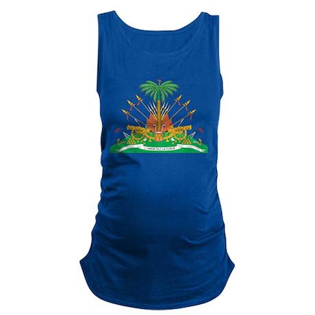 Haiti Coat Of Arms Maternity Tank Top
