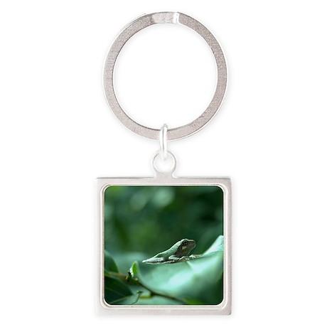 Frog on Leaf Keychains