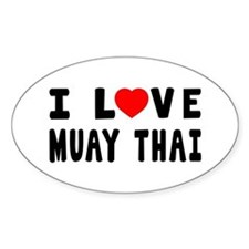 I Love Muay Thai Decal