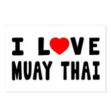 I Love Muay Thai Postcards (Package of 8)