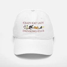 Crazy Cat Lady Drinking Club Baseball Baseball Cap