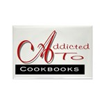 Addicted To Cookbooks Rectangle Magnet (10 pack)