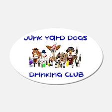 Junk Yard Dogs Drinking Club Decal Wall Sticker