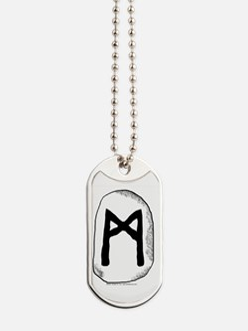 Mannaz Rune - The Self Dog Tags