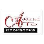 Addicted To Cookbooks Rectangle Sticker