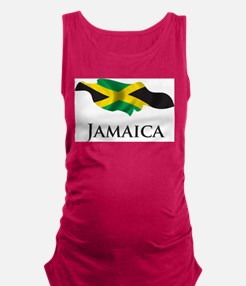 Map Of Jamaica Maternity Tank Top