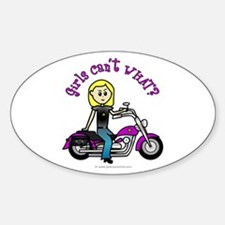 Custom Biker Oval Decal