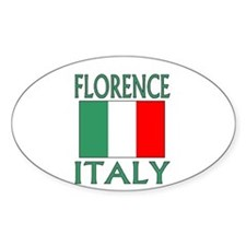 Florence, Italy Oval Decal