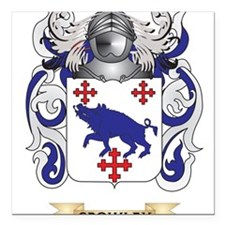 """Crowley Coat of Arms Square Car Magnet 3"""" x 3"""""""