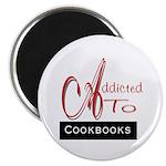 Addicted To Cookbooks Magnet