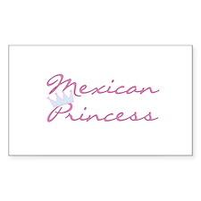 Mexican Princess Rectangle Decal