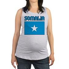 Somalia Flag Maternity Tank Top