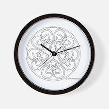 Celtic Heart Pentacle Wall Clock