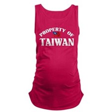 Property Of Taiwan Maternity Tank Top