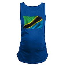 Wavy Tanzania Flag Maternity Tank Top