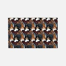dog lover dog breeds pattern 3'x5' Area Rug