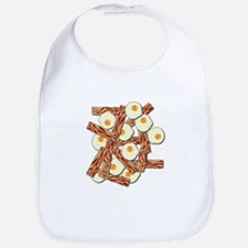 Bacon and Eggs Pattern Bib