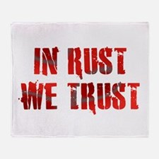 In Rust We Trust Throw Blanket