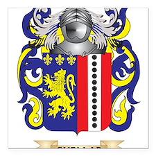 """Cuellar Coat of Arms Square Car Magnet 3"""" x 3"""""""